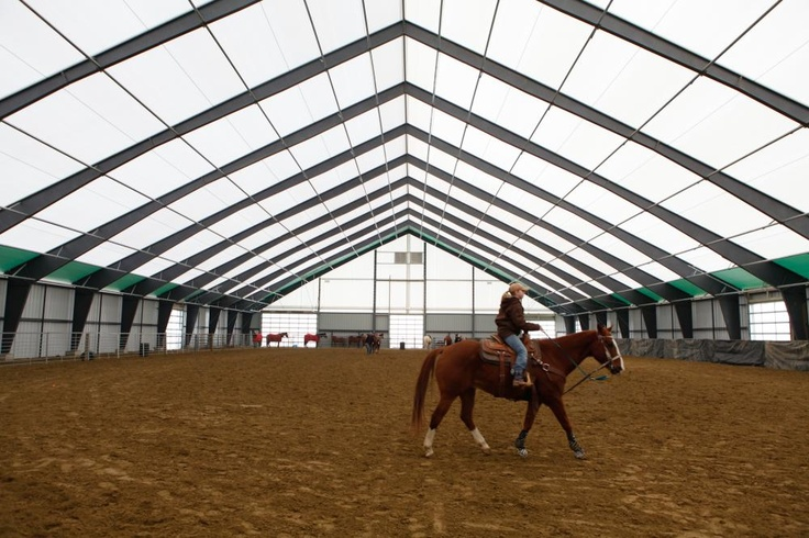 Fabric Covered Riding Arena I Love The Abundance Of