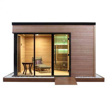 EO-SPA Sauna LT08 rote Zeder 400x300 9kW Vitra Combi
