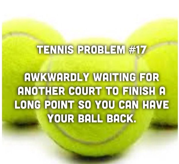 You know this has happened to you at some point! #tennisproblems