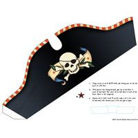 Pirate Hat Printables plus lots of other cute pirate ideas!
