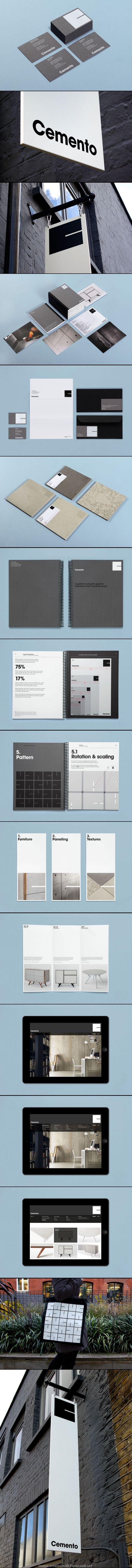 Cemento   #stationary #corporate #design #corporatedesign #identity #branding #marketing < repinned by www.BlickeDeeler.de   Visit our website: www.blickedeeler.de/leistungen/corporate-design