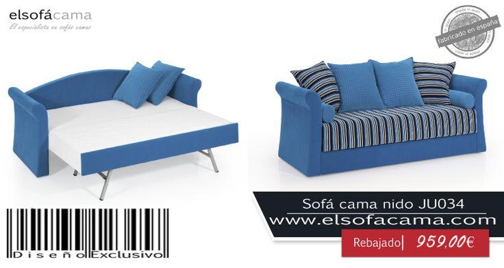 Este sofá cama le dará un toque distinto a su hogar evocando con el color azul tranquilidad y paz. Optimice el espacio con estilo. http://www.elsofacama.com/comprar/sofa-cama-baratos/