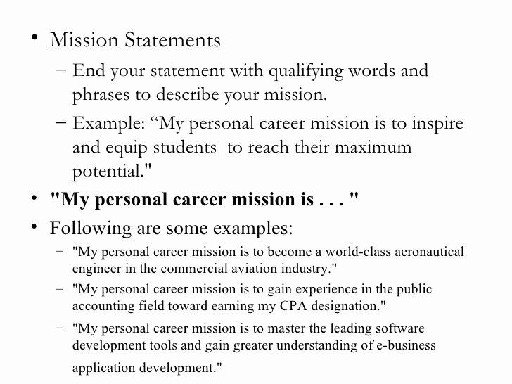 personal vision statement examples business elegant