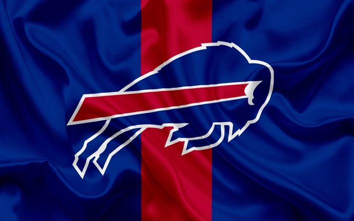 Download wallpapers Buffalo Bills, logo, emblem, National Football League, NFL, USA, American football, Northern Division