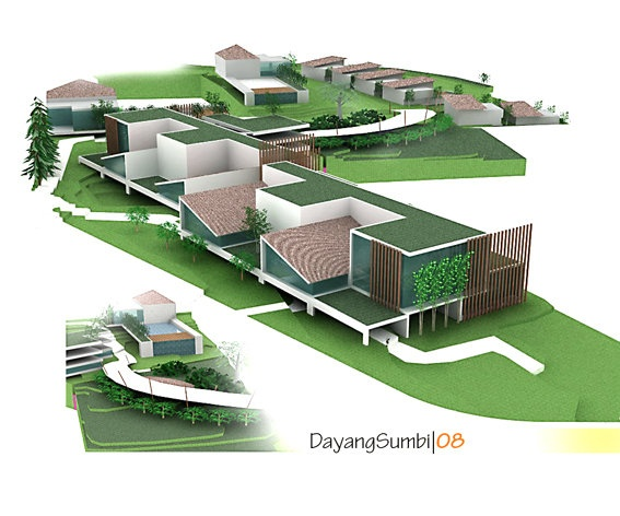 Re-Master Planning, Dayang Sumbi Resort & Town House, Lembang, 2008| design by Private | sketchup + Photoshop