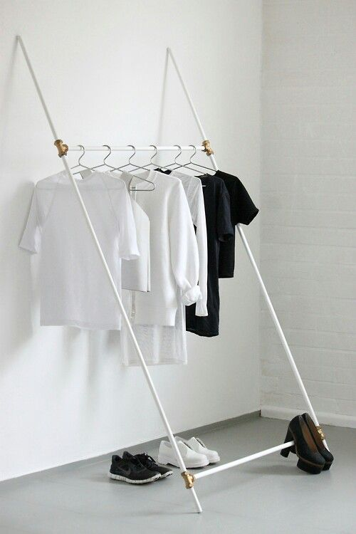 Clothing rack -- make it lean the other way
