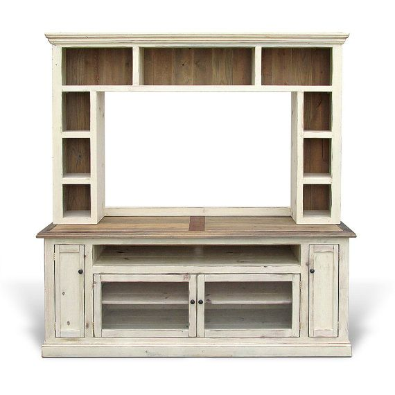 media console center reclaimed wood tv stand console table hutch