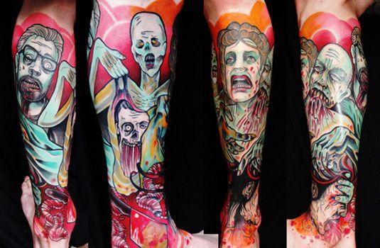 Adriaan Machete | Tattoo Design | Creative Bloq | http://www.creativebloq.com/illustration/20-brilliant-tattoo-designs-712379