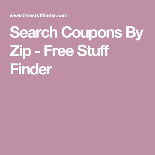 Search Coupons By Zip - Free Stuff Finder