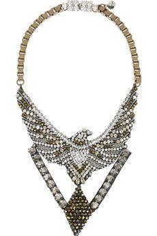 SHOUROUK  Phenix Dorado crystal-embellished necklace