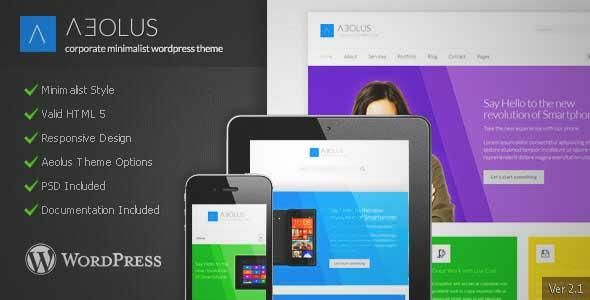 Download and review of Aeolus - Corporate Minimalist Wordpress Theme, one of the best Themeforest Corporative themes