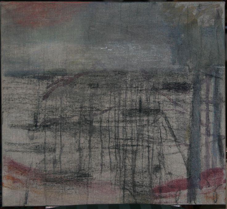 Tjibbe Hooghiemstra. Harbour. Oil on linen, 50x55cm, 2006