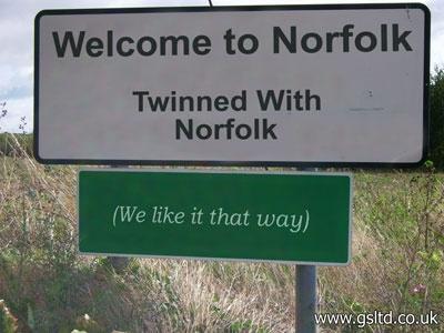 Norfolk sense of humour?