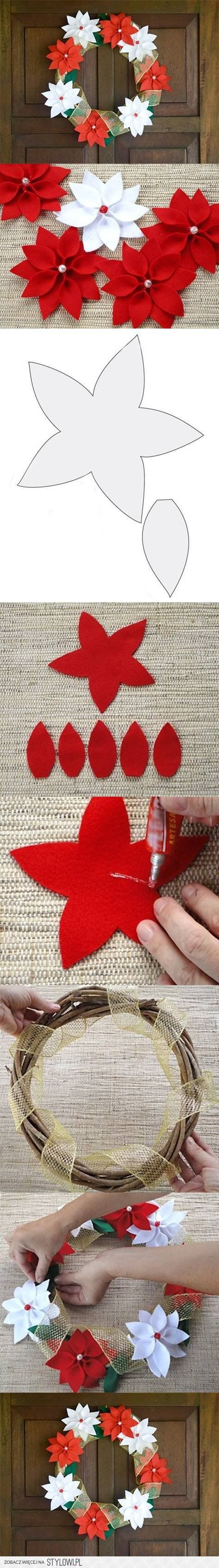 DIY Felt Christmas Wreath DIY Projects | UsefulDIY.com na Stylowi.pl
