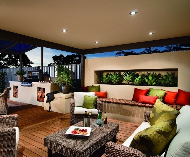 Alfresco Sample Colours, Deck, Built IN BBQ, Furniture/Furnishings,  Planter, Rendered Wall;   Sustainable Outdoor Concepts, Landscaping,  Patterson Lakes, ...