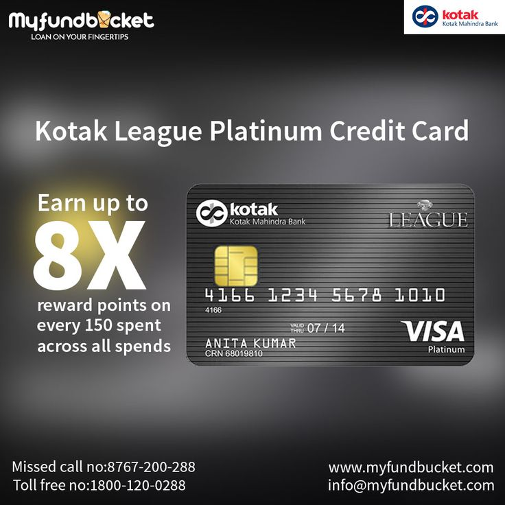 Get kotak league platinum credit card from myfundbucket