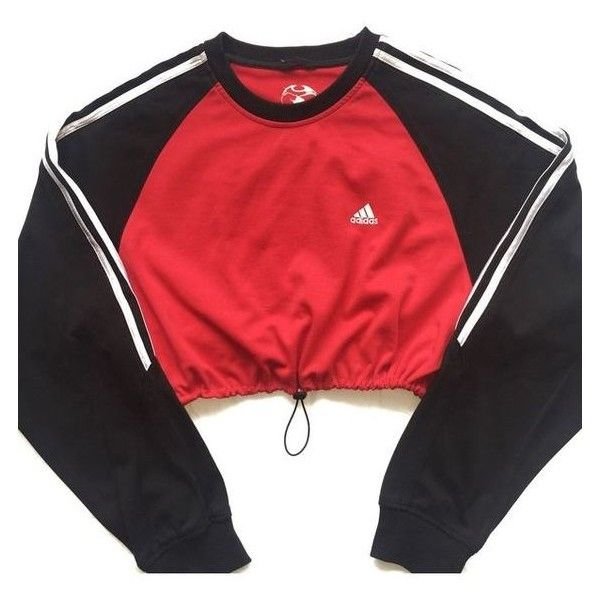 Reworked Adidas Stripe Block Crop Sweatshirt ❤ liked on Polyvore featuring tops, hoodies, sweatshirts, adidas sweatshirt, colourblock sweatshirt, color block tops, colorblock sweatshirts and stripe top