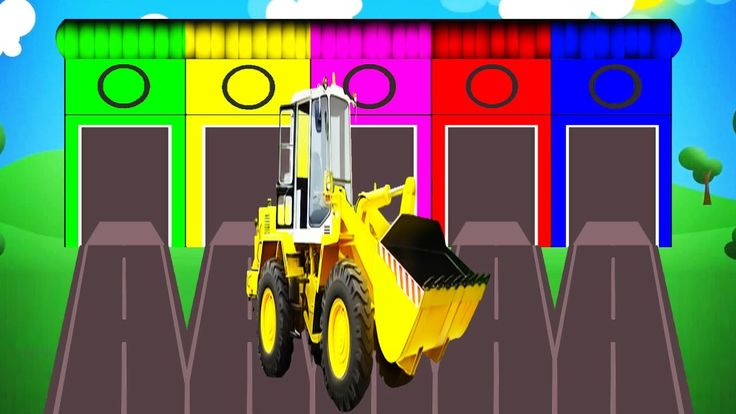 Learn Colors with Tractor - Educational Video | Cars Toys for Kids w Nur...