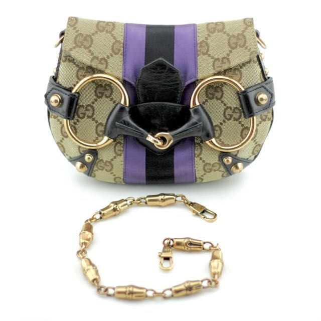 Gucci by Tom Ford Mini GG Canvas Horsebit Clutch on Carousell