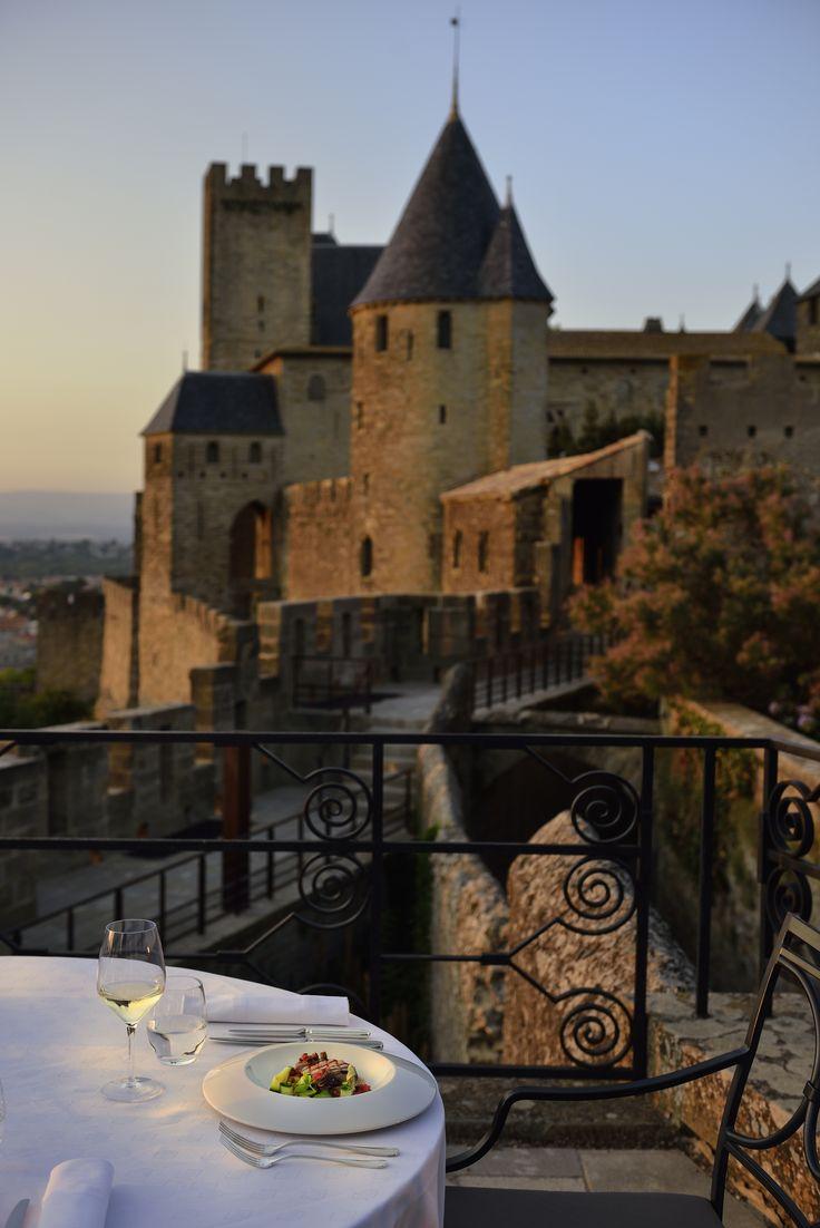 Have dinner while looking at Carcassonne's battlements @ Hotel de la Cité Carcassonne. #France