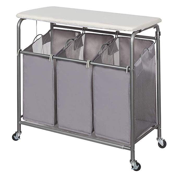 Amazon Com Storage Maniac Laundry Sorter With Ironing Board 3