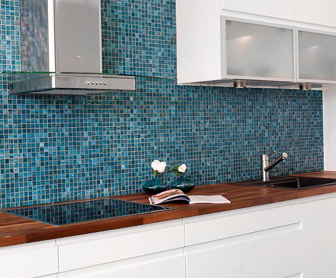 Beautiful kitchen, blue mosaic