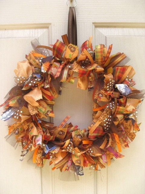 Fall ribbon wreath ~~ So cute by Jahree'