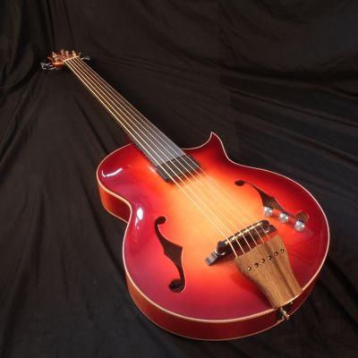 Chris Larkin Guitars - Claudio's ASAPB6 Archtop Acoustic Bass Guitar