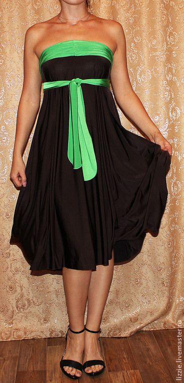 Купить Кариза - платье трансформер - разноцветный, однотонный, Беременность, на юбилей, на выпускной, на свадьбу, Трансформер, трикотаж