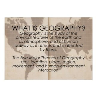 What is Geography? Posters