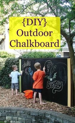 Get your kids outside with this fun life-size chalkboard!