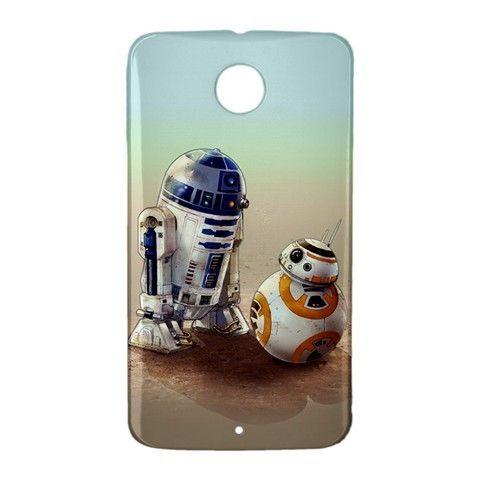 R2D2 BB8 Star Wars Google Nexus 6 Case Cover Wrap Around