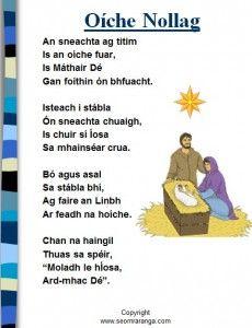 Oíche Nollag poem on Powerpoint