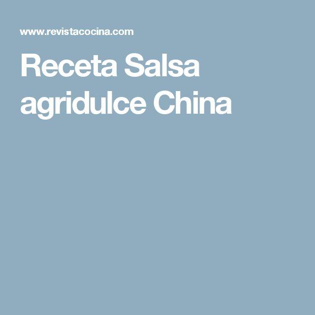 Receta Salsa agridulce China