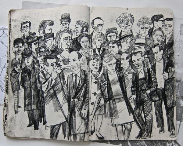 Alfred Daniels – People on London Bridge