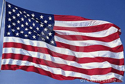 American Flag Waving Royalty Free Stock Image - Image: 23148026