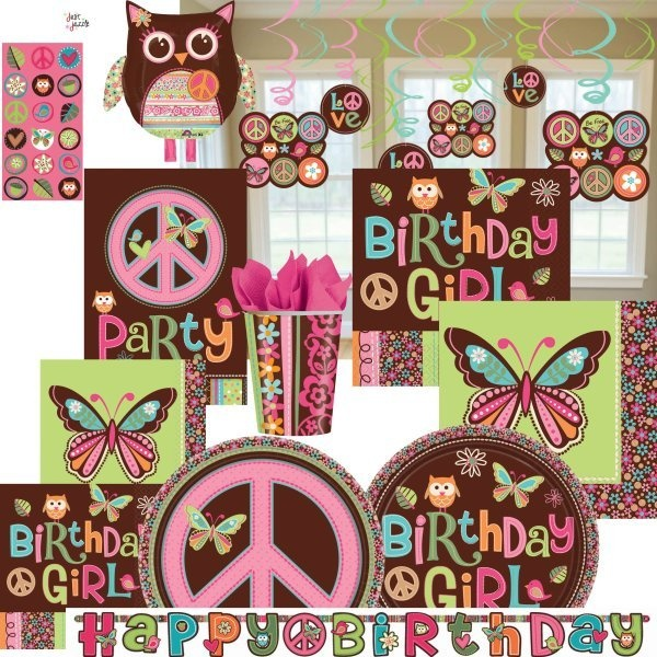 Hippie Chick Peace Ultimate Birthday Girl Party Supplies U Pick Decor Balloons