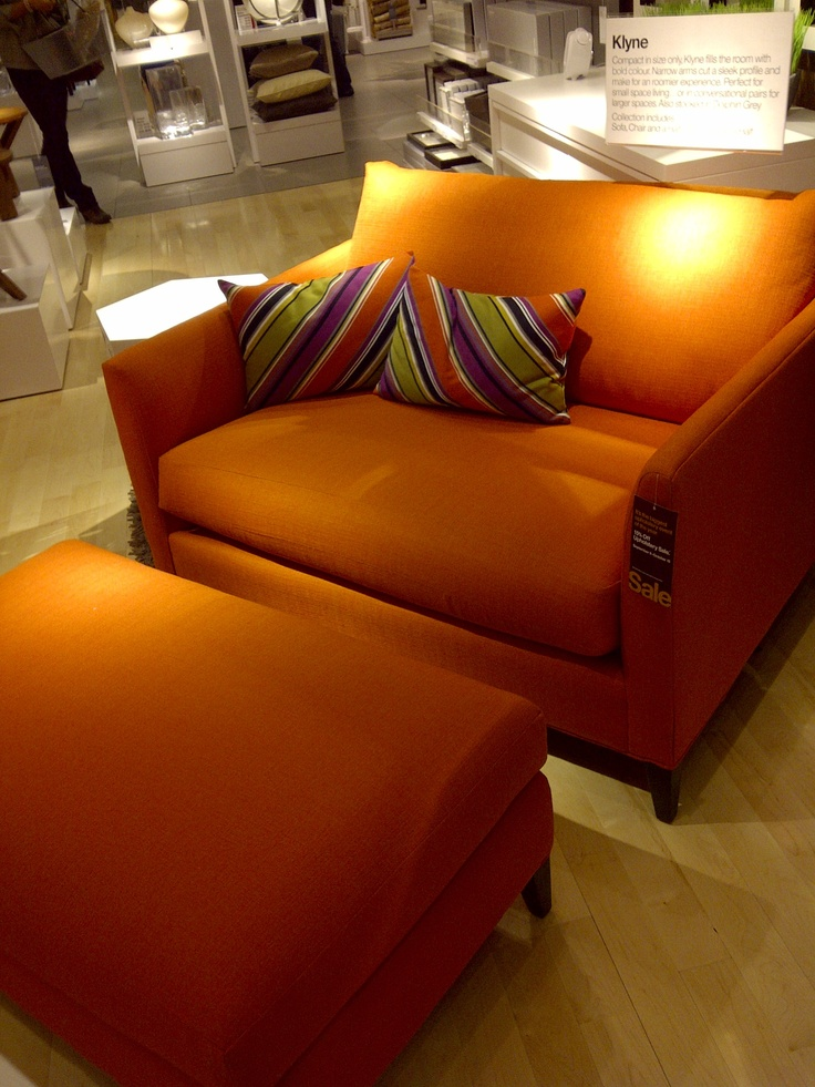Chair And A Half With Ottoman Red