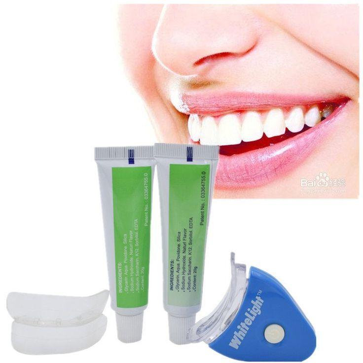 1 Satz Neue Heisse Weisse Led Licht Zahnaufhellung Zahngel Whitener Gesundheit Oral Zahnweiss Naturliches Zahnereinigen Zahnaufhellung Zahne Bleichen