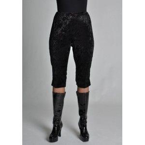Déguisement legging court noir femme, legging velours chic luxe, danse, fêtes