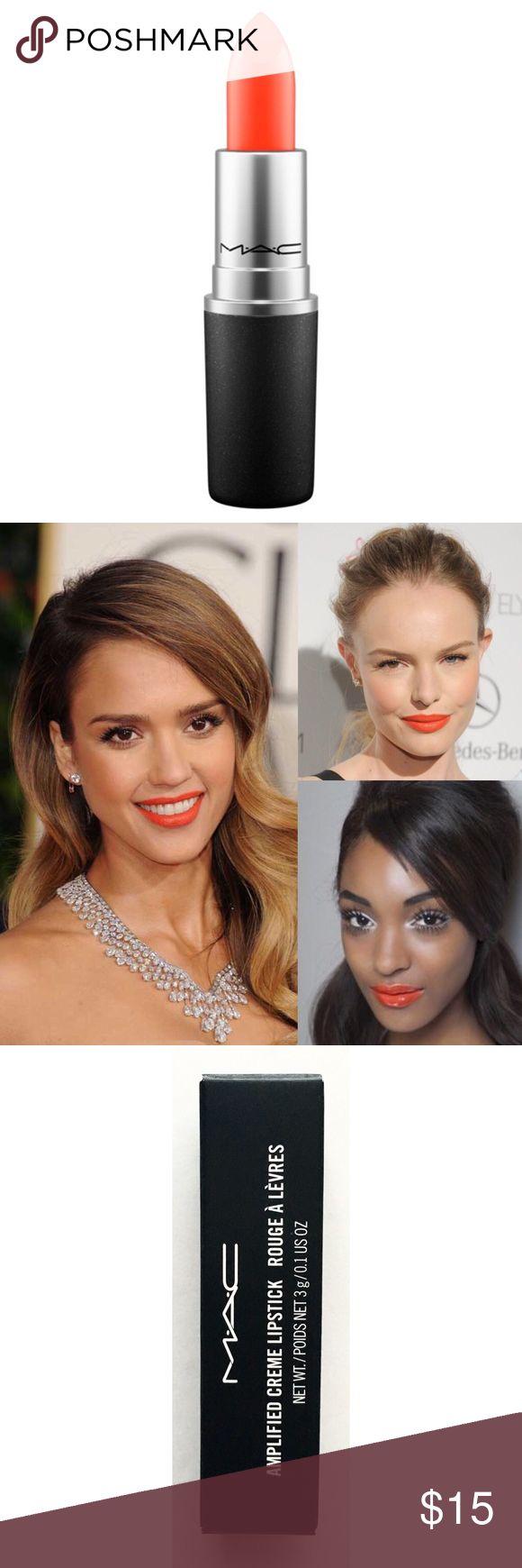 MAC — Amplified Creme Lipstick in Morange MAC — Amplified Creme Lipstick in Morange • NIB • NEVER USED MAC Cosmetics Makeup Lipstick