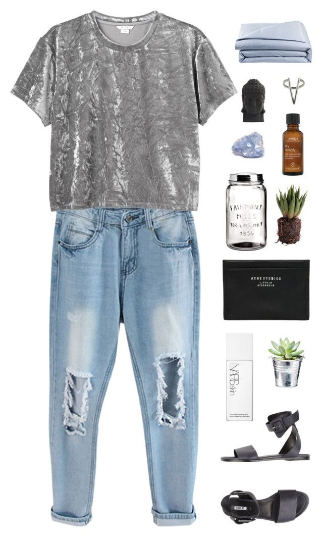 """you used to call me"" by chanelflowurs ❤ liked on Polyvore featuring Monki, Solo, NARS Cosmetics, Acne Studios, H&M, Aveda, Nearly Natural, The 2 Bandits and Frette"