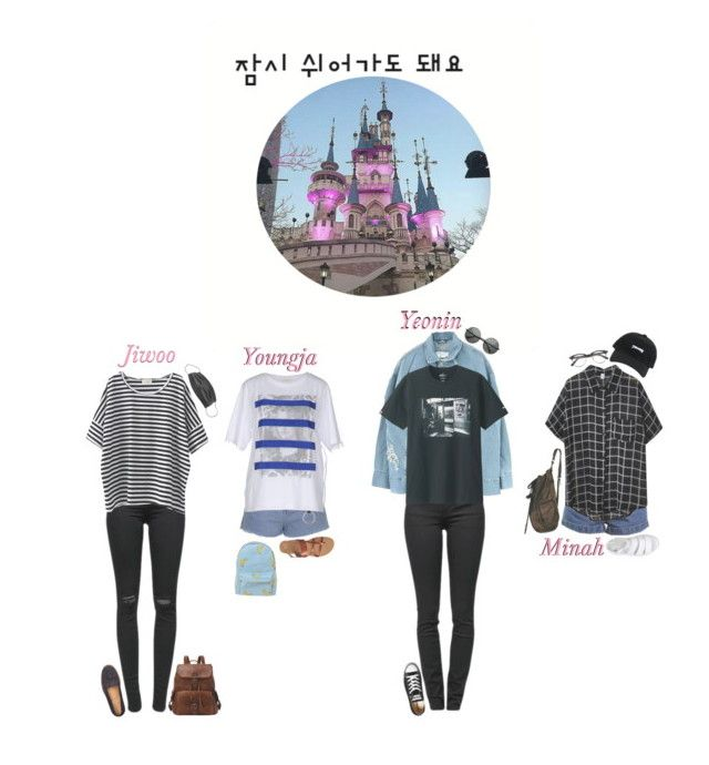 Lotte World With StarZ: 4U by real4u on Polyvore featuring polyvore fashion style Chicnova Fashion Steve J & Yoni P Misbehave Proenza Schouler J Brand Topshop Dr. Martens Gap A.P.C. Converse Uniqlo clothing