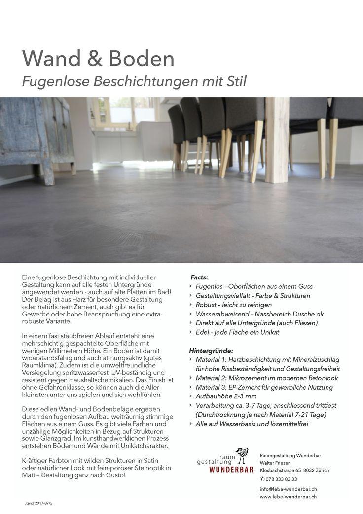 Info Fugenlose Wand  U0026 Bodenbeläge | Handwerk Zürich | Von Wohnzimmer Bis  Bad #lebewunderbar