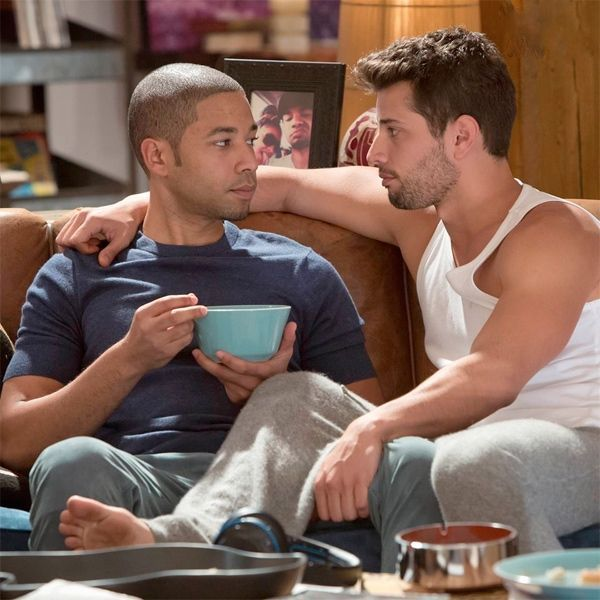 Empire's Jussie Smollett Is On Top Where You Like Him...he makes out a lot with cha-cha boyfriend Rafael de La Fuente. Like real, deep, hard, man-on-man kissing. This is on broadcast television. This is on Fox