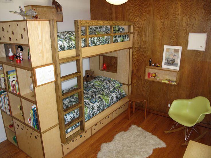 Bunk Beds With Drawers Under And A Bookcase. Etagenbetten Mit  SchubladenBücherschränke