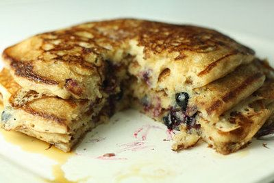 Blueberry Sourdough Pancakes   pancake central   Pinterest