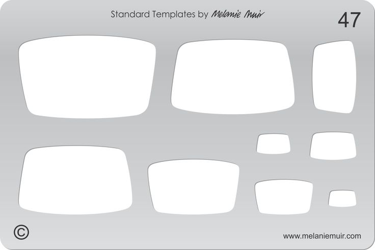 Acrylic template No. 47. Perfect for creating a wide variety of polymer, metal or clay bracelet, necklace, pendant and earring designs.