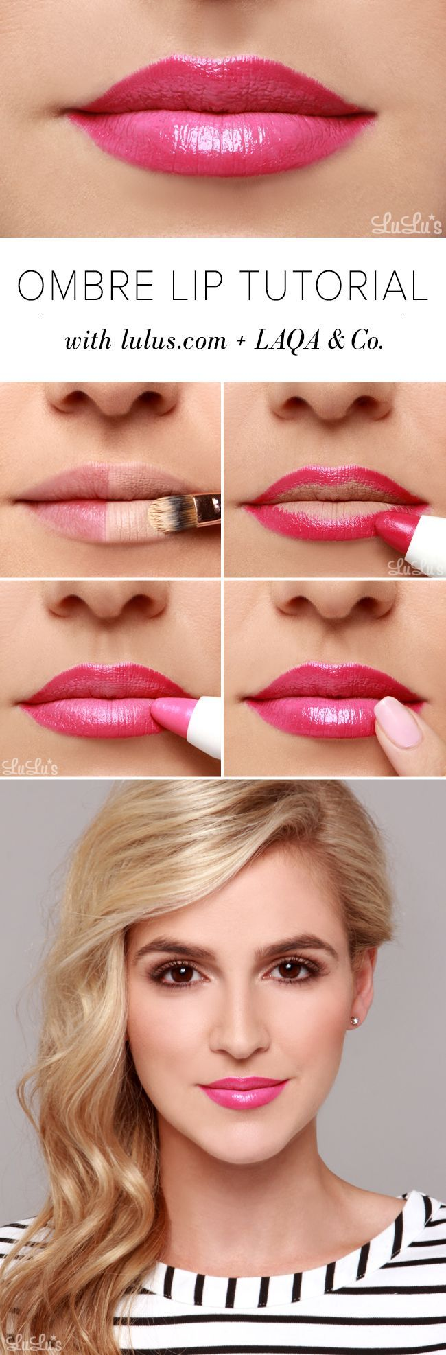 Beauty How-To: Pink Ombre Lip Tutorial