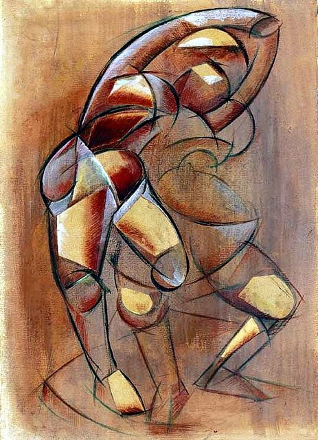Archipenko, Alexander (1881-1964) - 1912 Family Group - Figures in Movement (Christie's London, 2006)